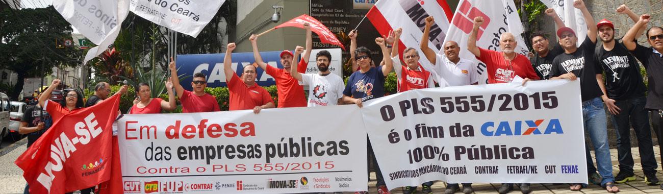 Trabalhadores nas ruas defendem as estatais da amea�a de privatiza��o