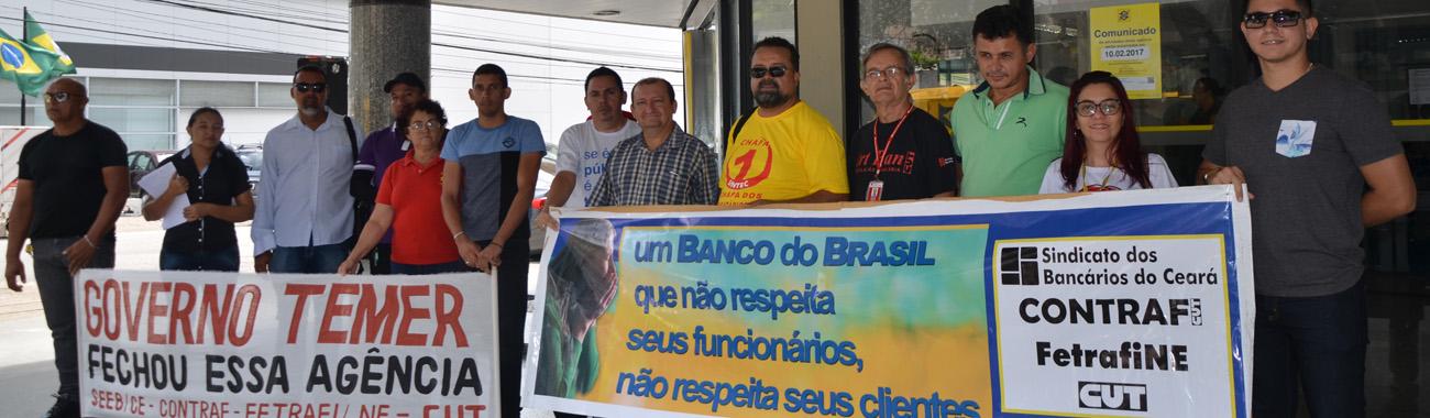 Caótica situação das agências atingidas pela reestruturação do BB em Fortaleza