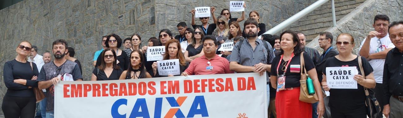 Bancários do Ceará fazem atos em defesa do Saúde Caixa em Dia Nacional de Luta