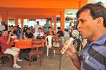 O Secretário de Esporte e Lazer, Ribamar Pacheco, saúda os participantes e avalia positivamente o campeonato